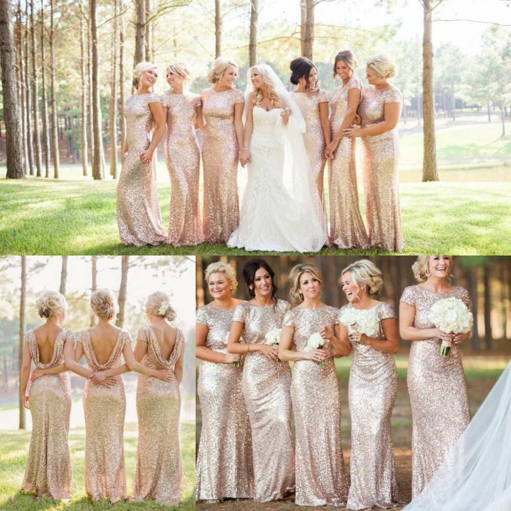 775f83d33010 ... Shinning Backless Sequined Long Party Bridesmaid Dress - Meet Yours  Fashion - 3 ...