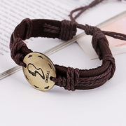 Retro Style 12 Constellation Leather Bracelet