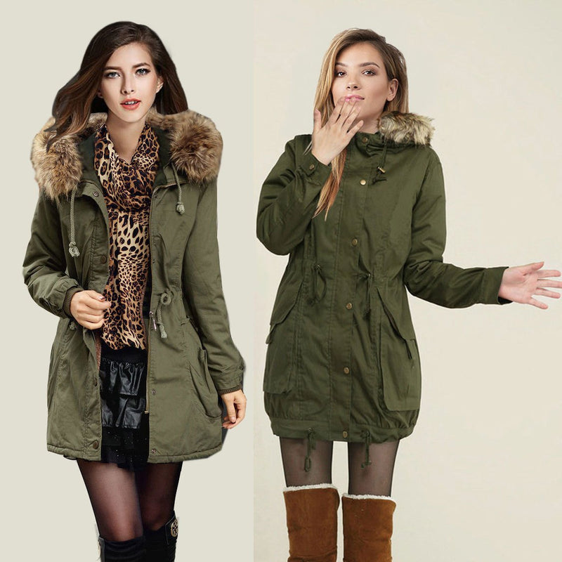 Momens Faux Fur Long Hooded Coat - Meet Yours Fashion - 3