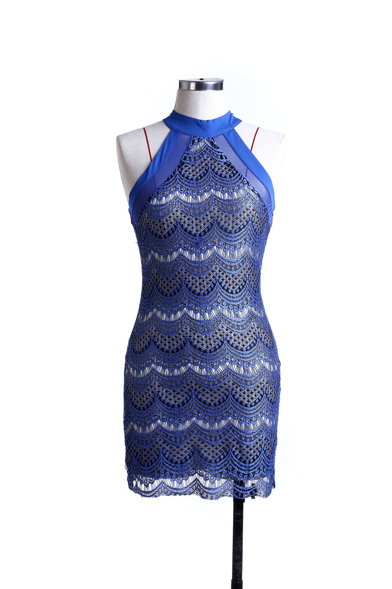 Fashion Sexy Lace Sapphire Blue Red Dresses
