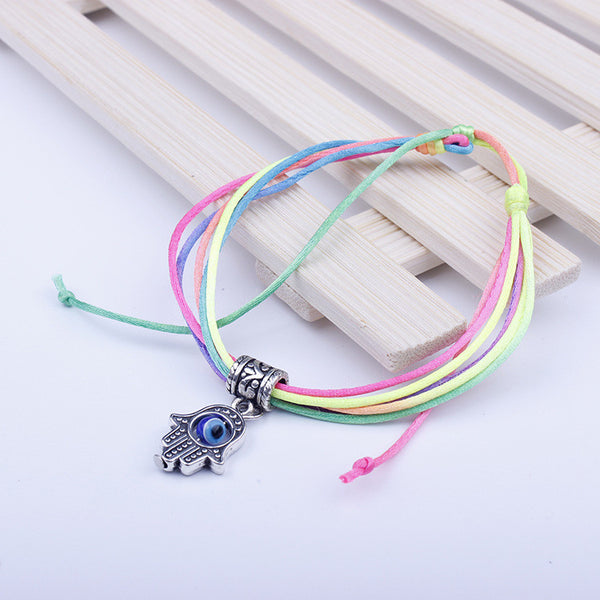 Blue Eyes Color Rope Hand Multilayer Woven Bracelet
