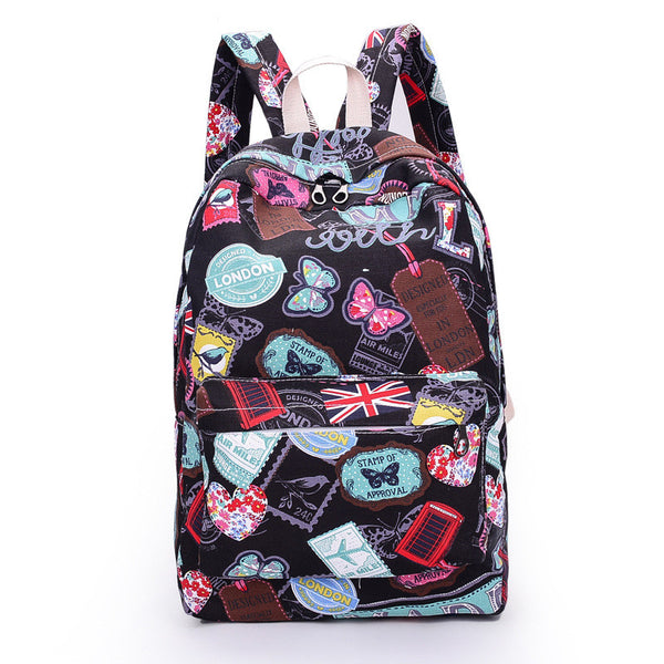 Best Seller Print Backpack Canvas School Travel Bag - Meet Yours Fashion - 3