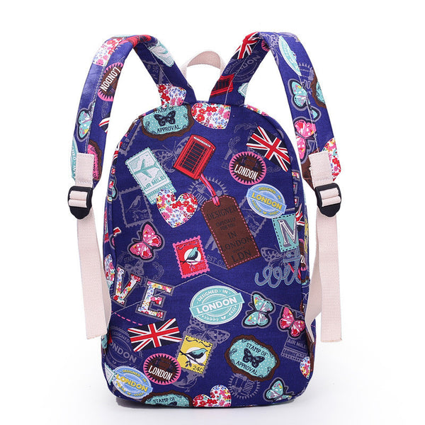 Best Seller Print Backpack Canvas School Travel Bag - Meet Yours Fashion - 5