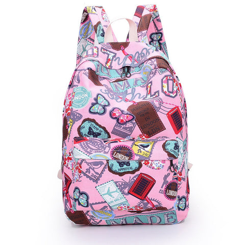 Best Seller Print Backpack Canvas School Travel Bag - Meet Yours Fashion - 4