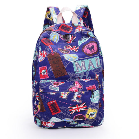 Best Seller Print Backpack Canvas School Travel Bag - Meet Yours Fashion - 2