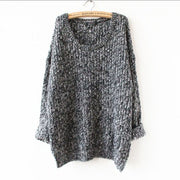 Long Pullover Loose Solid Color Knit Sweater - Meet Yours Fashion - 5