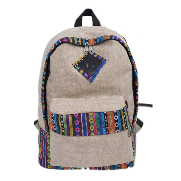 National Flavor Canvas Backpack School Travel Bag - Meet Yours Fashion - 3