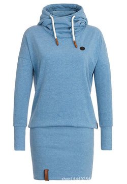 High Neck Bodycon Hoodie Sweatshirt - MeetYoursFashion - 4