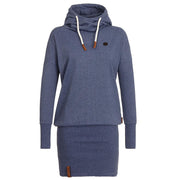 High Neck Bodycon Hoodie Sweatshirt - MeetYoursFashion - 1