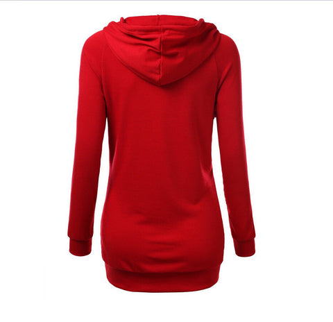 Solid Color Hooded Long Sleeve Pullover Slim Hoodie - Meet Yours Fashion - 6