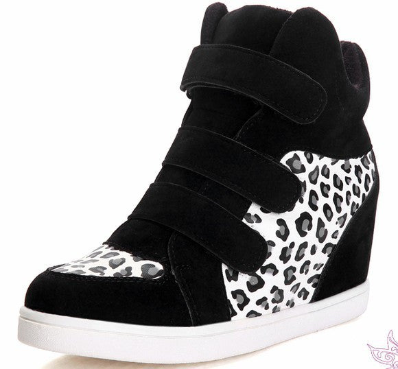 High Tops Increased Leopard Sneakers