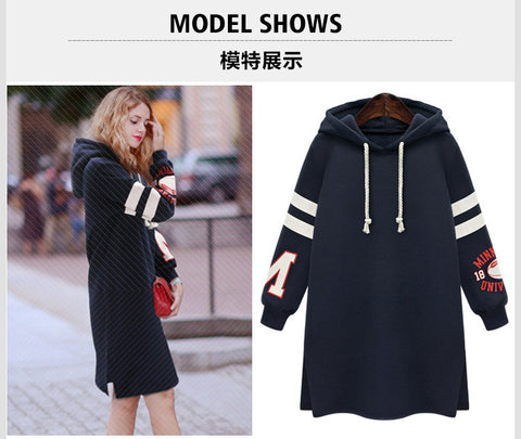 Long Slim Pullover Hooded Print Hoodie - Meet Yours Fashion - 4