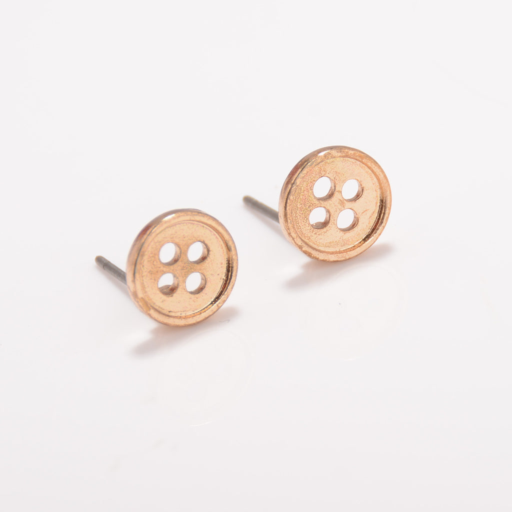 Simple Fashion Button Earrings