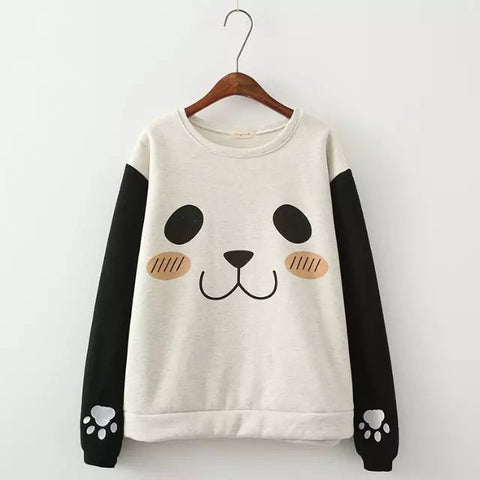 Pullover Print Scoop Long Sleeves Slim Sweatshirt - Meet Yours Fashion - 2