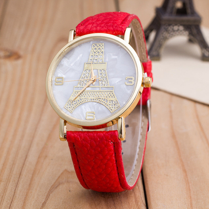 3D Effel Tower Dial Watch