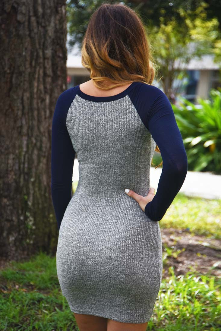Autumn Knitting Sheath Bodycon Short Dress