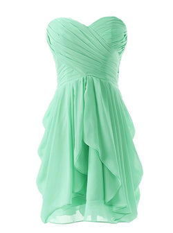 Sterpless Solid Color Irregular Ruffles Homecoming Party Dress - Meet Yours Fashion - 2