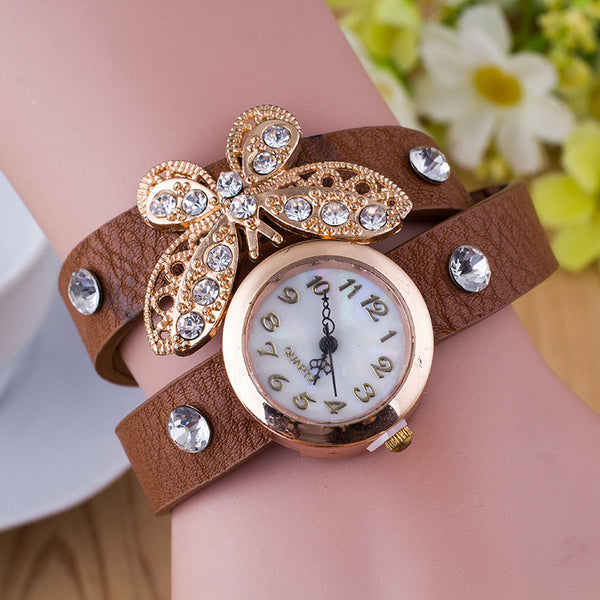 Crystal Butterfly Bracelet Watch