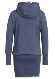 High Neck Bodycon Hoodie Sweatshirt - MeetYoursFashion - 2