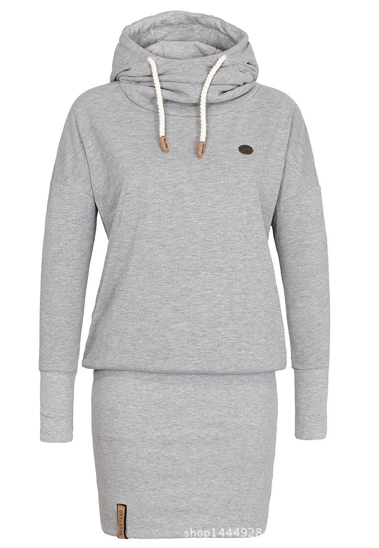 High Neck Bodycon Hoodie Sweatshirt - MeetYoursFashion - 3