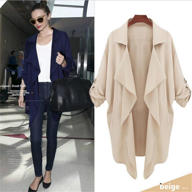Plus Size Autumn Long Sleeves Chiffon Coat - Meet Yours Fashion - 2