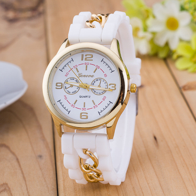 Fashion Colorful Jelly Digital Meter Watch