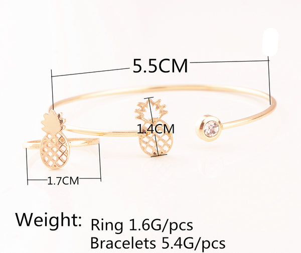 Sweet Pineapple Bracelet Ring