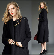 Drape Cardigan Asymmetric Solid Coat - Meet Yours Fashion - 9
