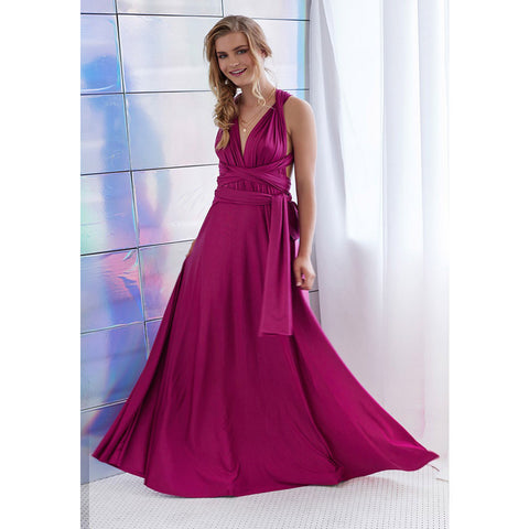 Back Cross V-neck Bandage Floor Length Prom Dress - Meet Yours Fashion - 11