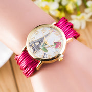 National Style Woven Rose Tower Watch