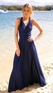 Back Cross V-neck Bandage Floor Length Prom Dress - Meet Yours Fashion - 18