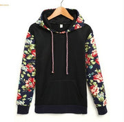 Print Retro Pullover Long Sleeve Loose Hoodie - Meet Yours Fashion - 3