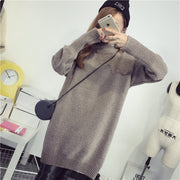 High Knit Student Pullover Upset Long Sweater - Meet Yours Fashion - 6