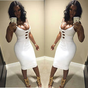 Sexy Spaghetti Strap Bodycon Short Dress - Meet Yours Fashion - 5