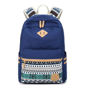 Flower Print Casual Backpack Canvas School Travel Bag - Meet Yours Fashion - 4