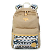 Flower Print Casual Backpack Canvas School Travel Bag - Meet Yours Fashion - 2