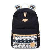 Flower Print Casual Backpack Canvas School Travel Bag - Meet Yours Fashion - 5