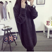 High Knit Student Pullover Upset Long Sweater - Meet Yours Fashion - 5
