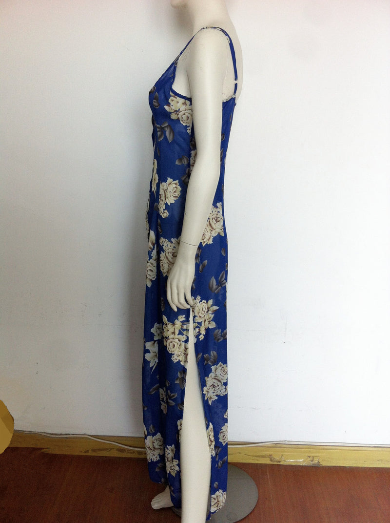 Sexy Spaghetti Strap Irregular Long Dress