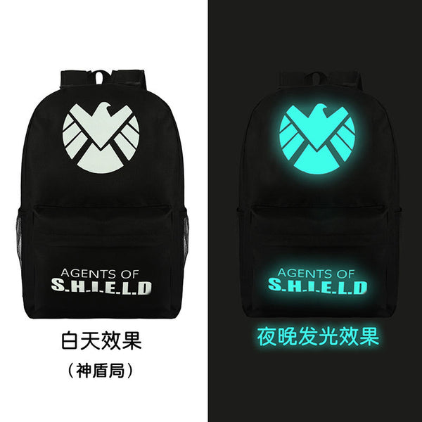 Noctilucent Canvas Chic Backpack Black School Bag - Meet Yours Fashion - 4