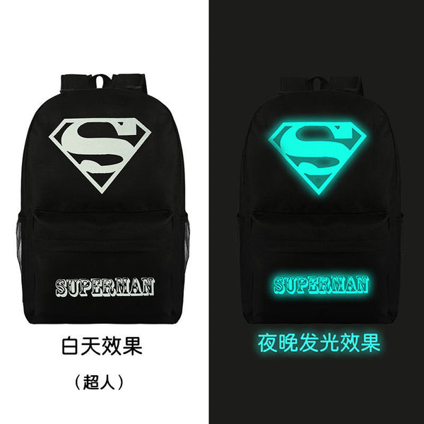Noctilucent Canvas Chic Backpack Black School Bag - Meet Yours Fashion - 8