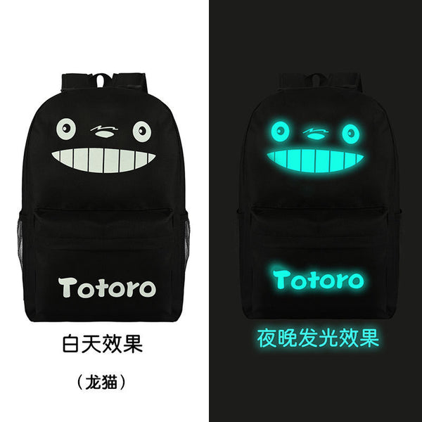 Noctilucent Canvas Chic Backpack Black School Bag - Meet Yours Fashion - 9