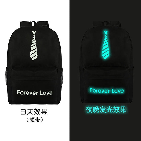 Noctilucent Canvas Chic Backpack Black School Bag - Meet Yours Fashion - 15