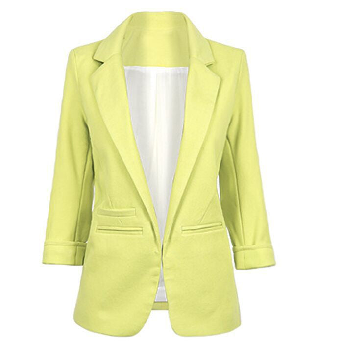 Candy Colors 7/10 Sleeves Slim British Style Short Coat - Meet Yours Fashion - 15