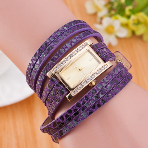 Square Crystal Dial Multilayer Watch