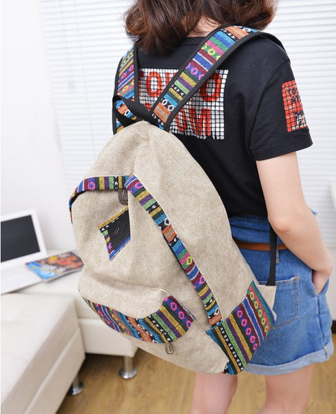 National Flavor Canvas Backpack School Travel Bag - Meet Yours Fashion - 4