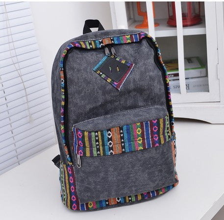 National Flavor Canvas Backpack School Travel Bag - Meet Yours Fashion - 2