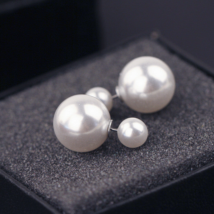 Candy Color Big Little Pearl Earring
