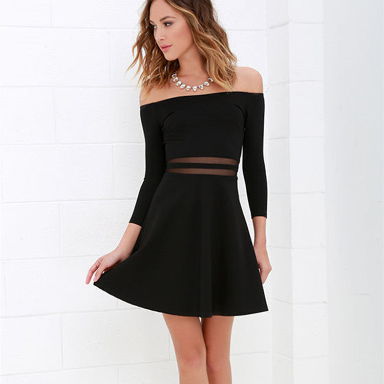 short dress with coverd shoulders
