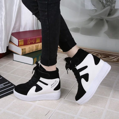 Leisure Sports Outdoor Color Matching High-Top Sneakers